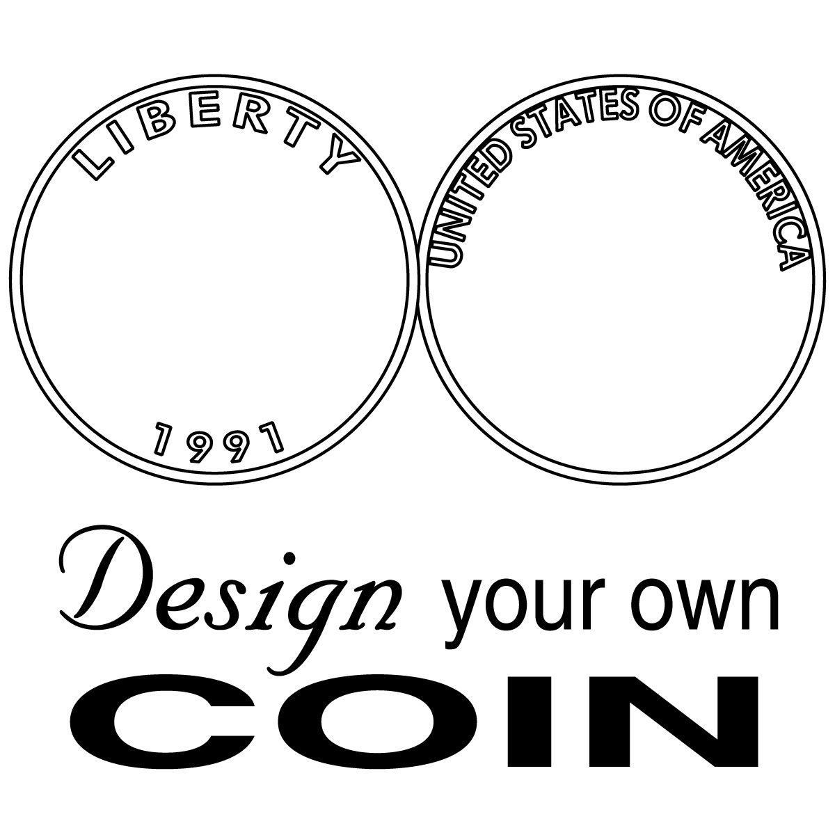 U S Coin Clip Art Comclip Art Dyo Coin B W
