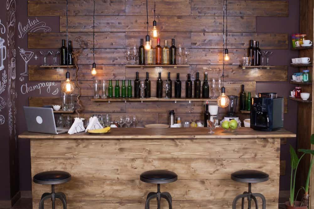 Cool Rustic Industrial Style Home Bar Bar Counter Bar Counter Design Home Bar