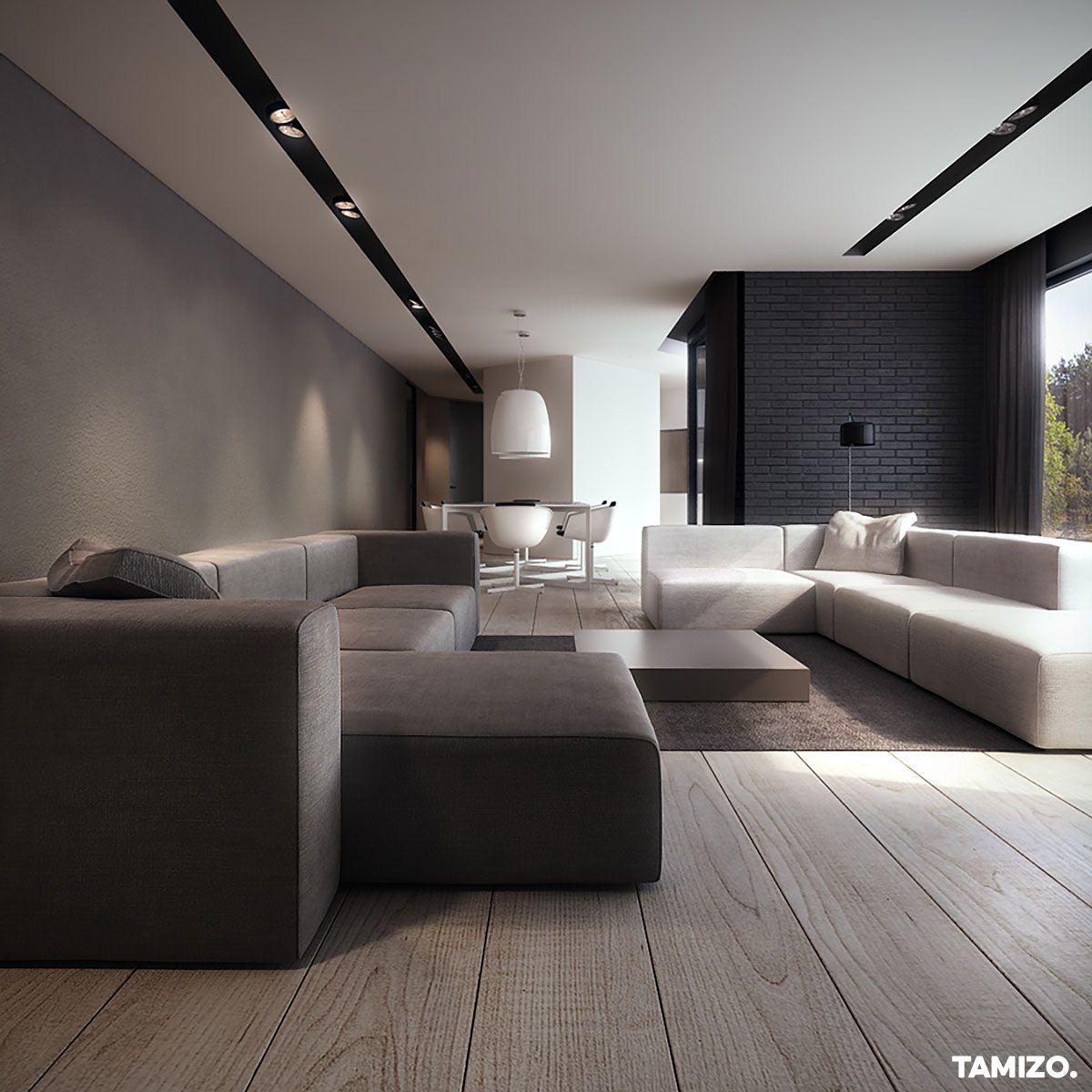 I031 Tamizo Architekci Wnetrza Domu V House Projektowanie Pabianice 01 Interior Design Living Room Luxury Living Room Design Home Interior Design Ultra modern living room