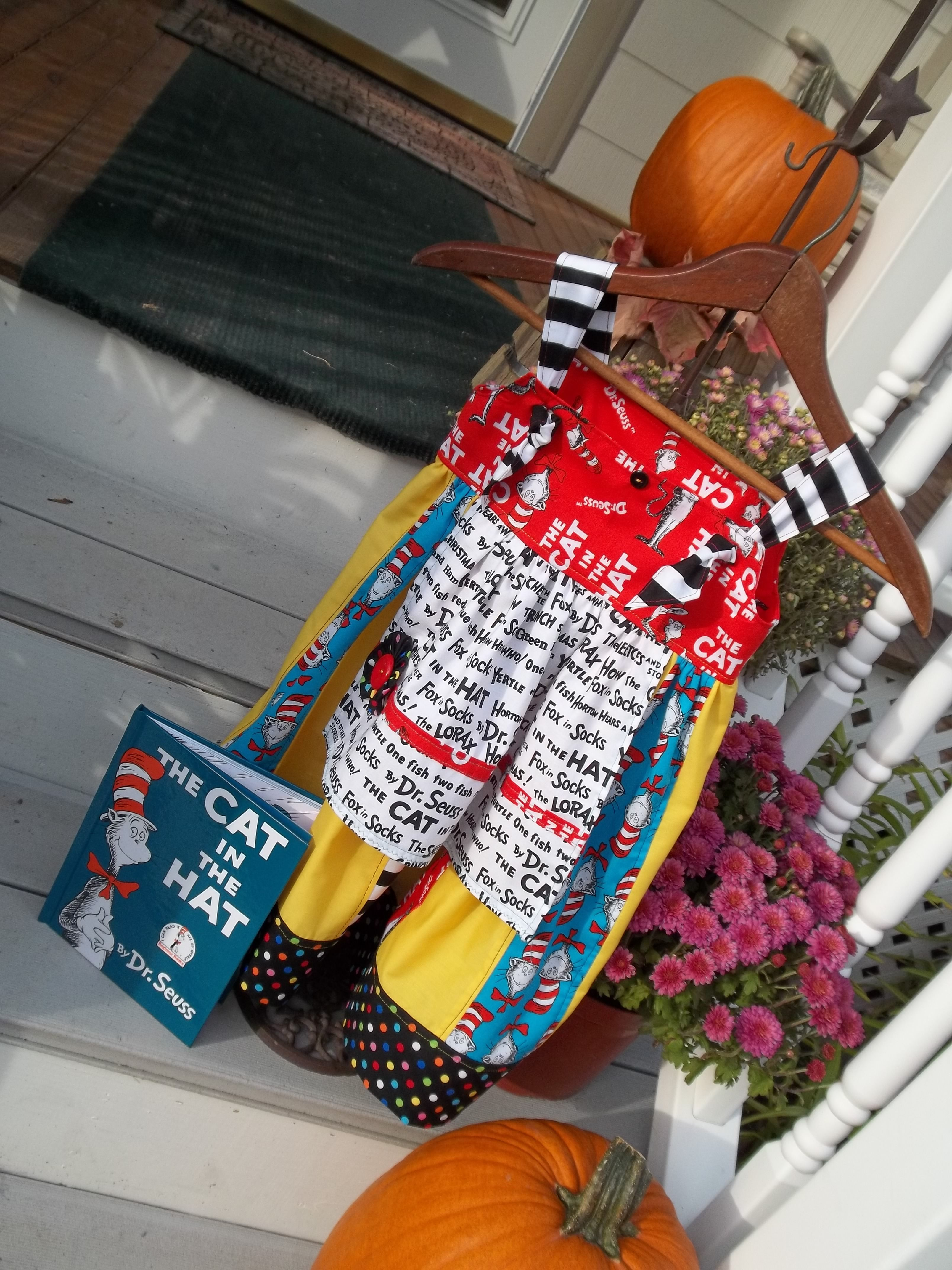 The Cat in the Hat Dress and Book. This was made for R.A.P