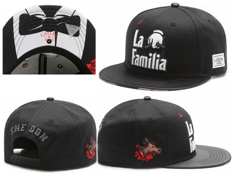 43736fc569e 2016 new fashion black la familia baseball snapback hats and caps for men  women strapack