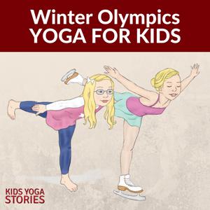 winter olympics yoga printable poster  yoga for kids