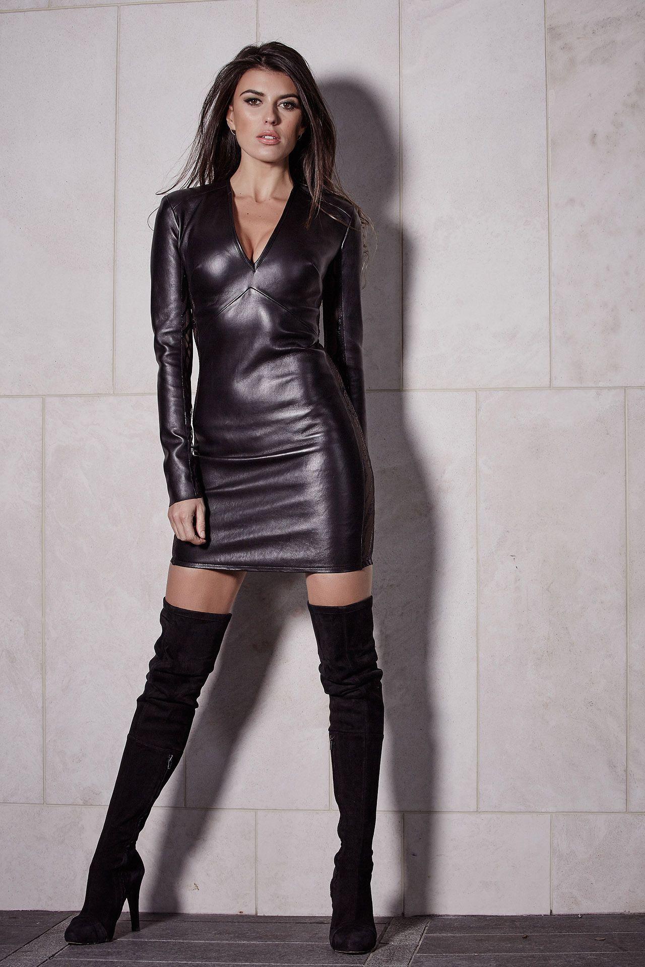 Slickcrust Isla Cruz Luxury Womenswear Brand Designed Crafted In London Leather Dresses Socialite Dress Leather Outfit [ 1920 x 1280 Pixel ]