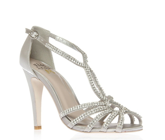 58befae61de Miss KG Silver  Pippa  high heel peep toe shoes - ShopStyle. Find this Pin  and more on Wedding shoes by ...