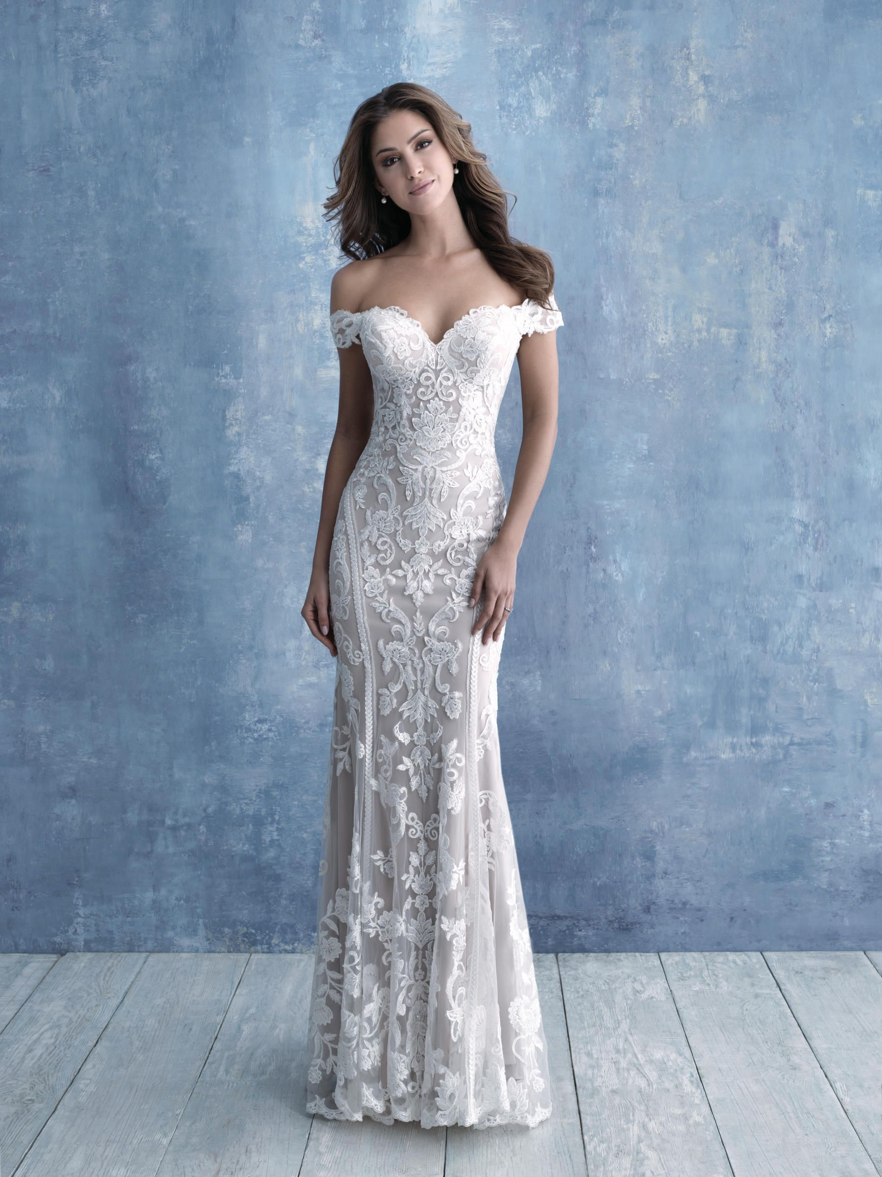Allure Bridals 9704 The Wedding Bell Tacoma Wa Bridal Gowns Wedding Gowns Bridesmaids Prom Evening Gowns Flower Girls Accessories In 2020 Sheath Wedding Dress Lace Wedding Dresses Kleinfeld Allure Wedding Dresses [ 2400 x 1800 Pixel ]