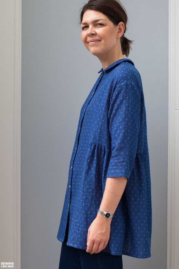 Sewing Like Mad: Japanese Shirt Pattern plus Vertical Button ...