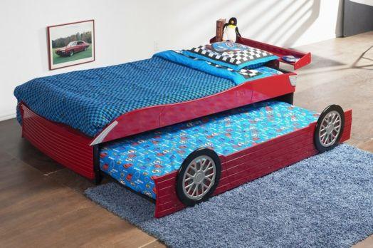Kinderzimmer Gestalten Junge Bett Auto Etagenbett Geschwister