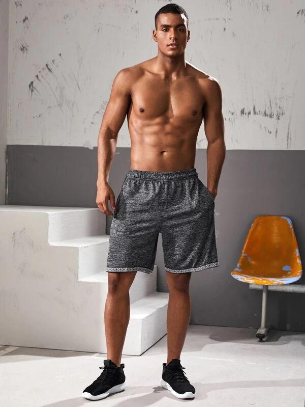 Pantalones Cortos Para Hombre Cinta Geometrico Gris Claro Preppy Moda De Mujer Shein Mexico Pantalones Cortos Hombre Pantalones Cortos Moda Para Mujer