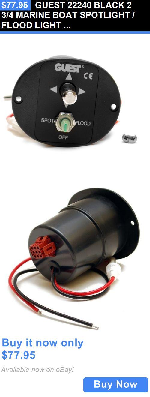 boat parts: Guest 22240 Black 2 3/4 Marine Boat Spotlight / Flood Light  Joystick Control BUY IT NOW ONLY: $77.95 | Marine boat, Boat parts, Boat | Guest Spotlight Wiring Diagram |  | Pinterest