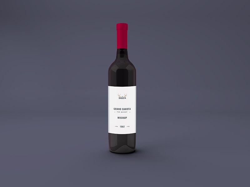 Download Red Wine Bottle Mockup Wine Bottle Label Design Red Wine Bottle Wine Bottle