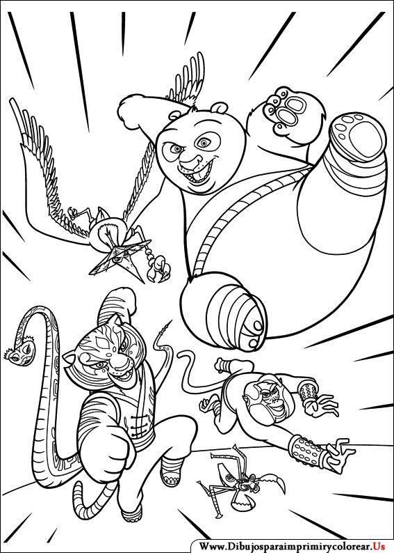 Dibujos de Kung Fu Panda para Imprimir y Colorear | ROPA PARA MI ...
