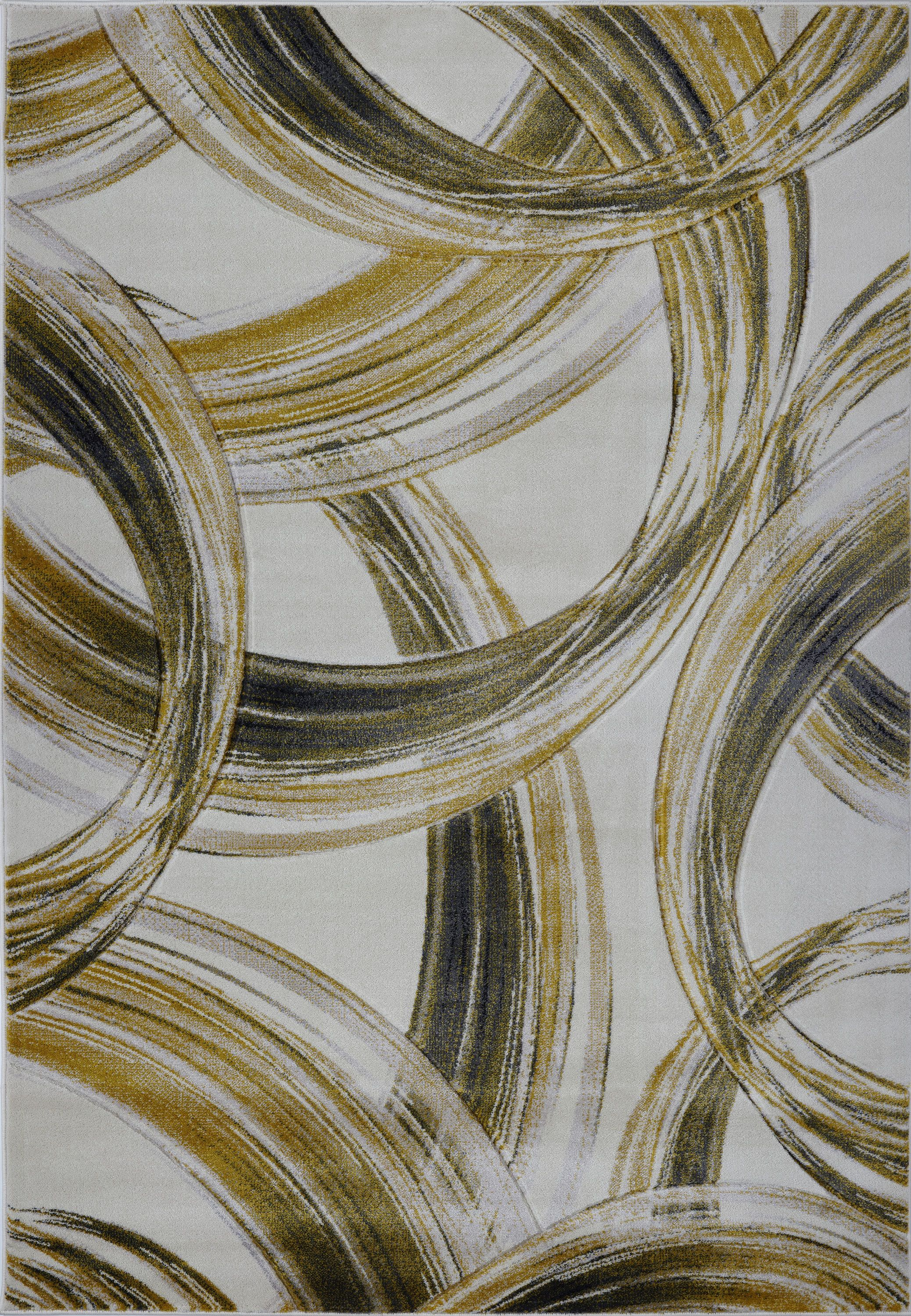 Ramage Abstract Cream/Gold Area Rug in 2020 Area rugs