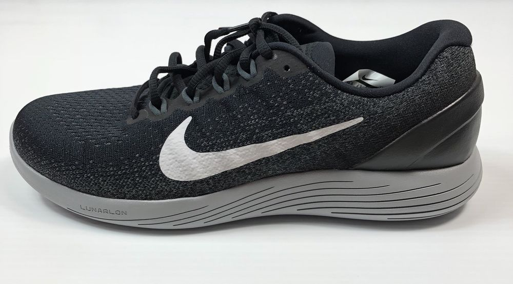 eaed8f22ec9a3 Mens Nike Lunarglide 9 Running Shoes Black White Grey Size 10.5 904715 001