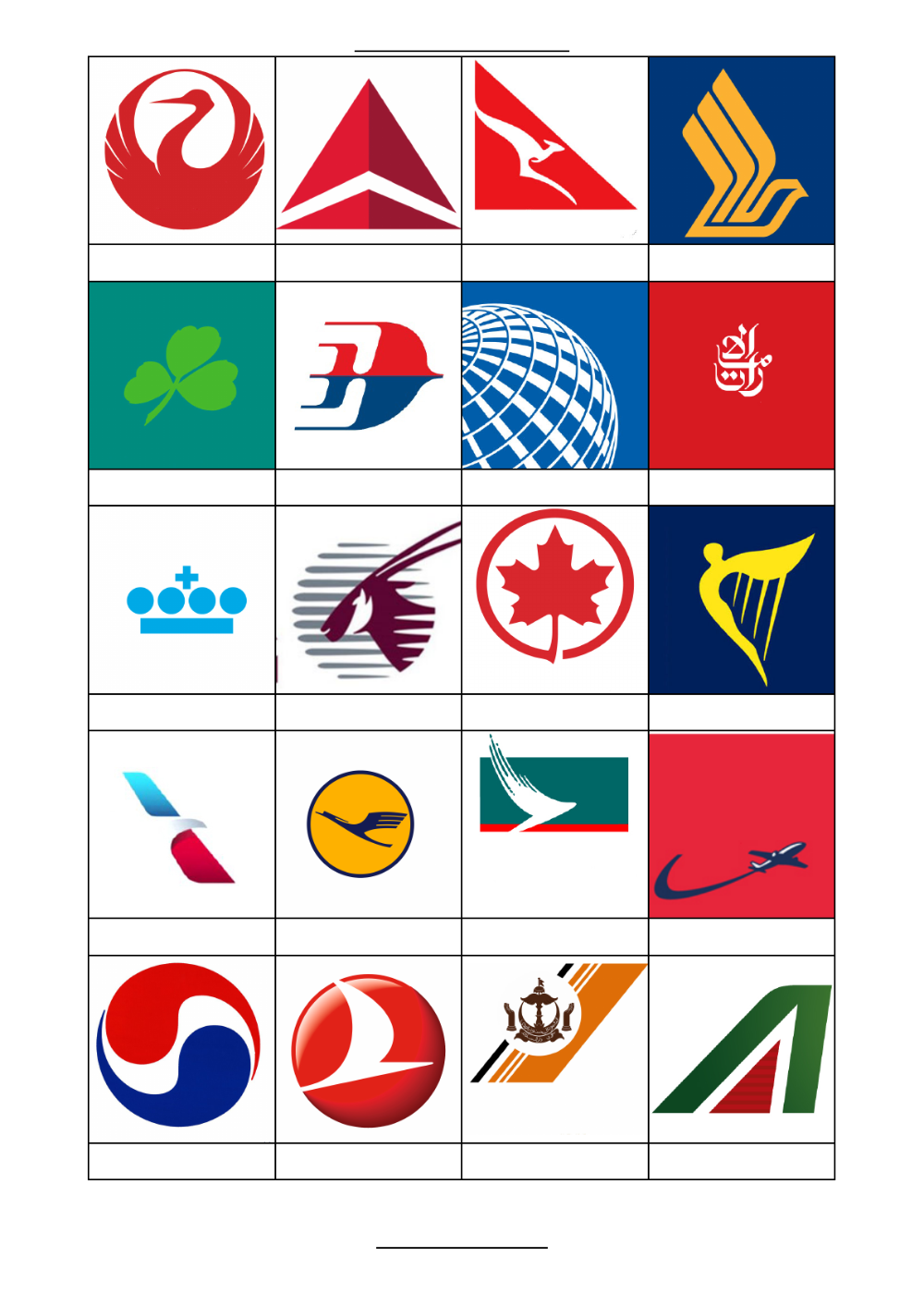 Airline logos quiz Ken's Quiz . Title Airline logo