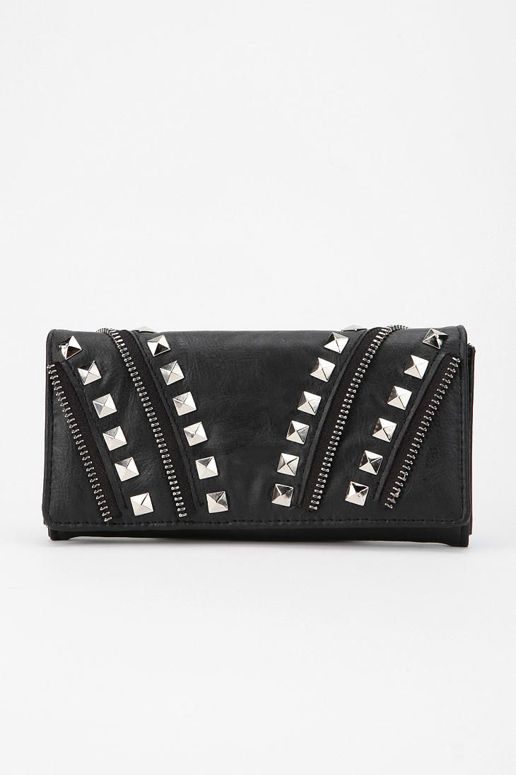 Deena  & Ozzy Zipper Stud Checkbook Wallet - $29