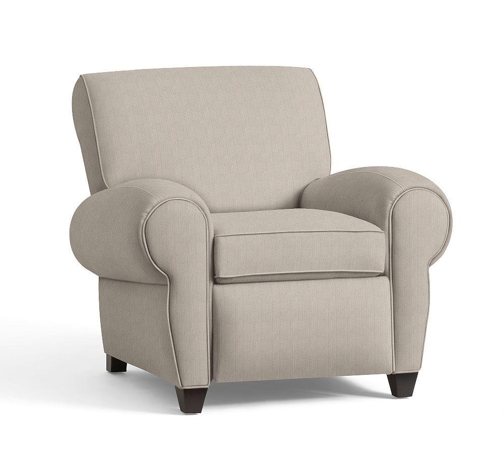 Manhattan Upholstered Recliner Denim Warm White