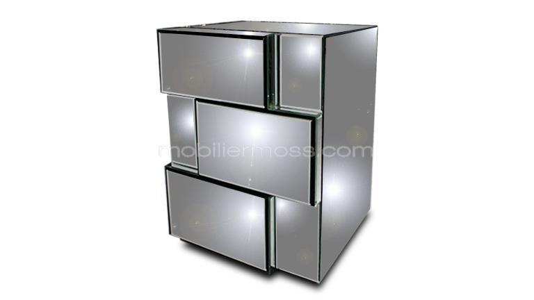 Table d\'appoint ou chevet miroir Brensy | Chevet, Miroirs et Table ...