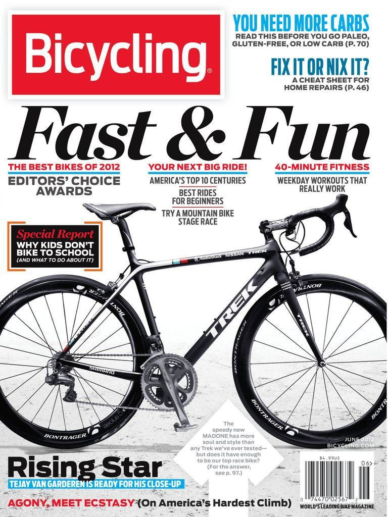 Since 1962, Bicycling has been inspiring people to get more out of their cycling passion. Get Bicycling digital magazine subscription today for action-packed issues filled with proven secrets to go faster, stronger, longer. Increase your stamina; buy the best gear for your money; locate a great ride; improve your performance; perfect your technique; fuel your passion.