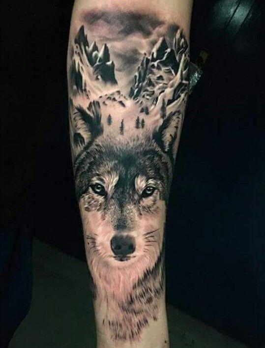 Wunderschön Tatuaże Z Wilkiem Wolf Tattoo Design Tatuaż