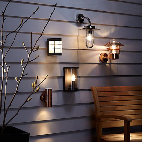 Classic Canterbury Wall Light | Copper, Polished nickel and Wall ...:Buy Polished Nickel ASTRO Montparnasse Outdoor Lantern Wall Light from our Wall  Lighting range at John Lewis. Free Delivery on orders over,Lighting