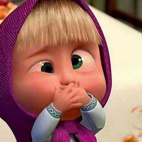 Masha Masha Y El Oso Disney Gracioso Caras Divertidas De Animales