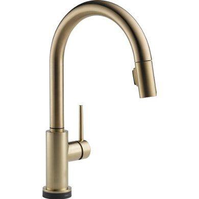 Delta Faucet 9159Tczdst Trinsic Single Handle Pulldown Kitchen Entrancing Single Handle Kitchen Faucet Decorating Design