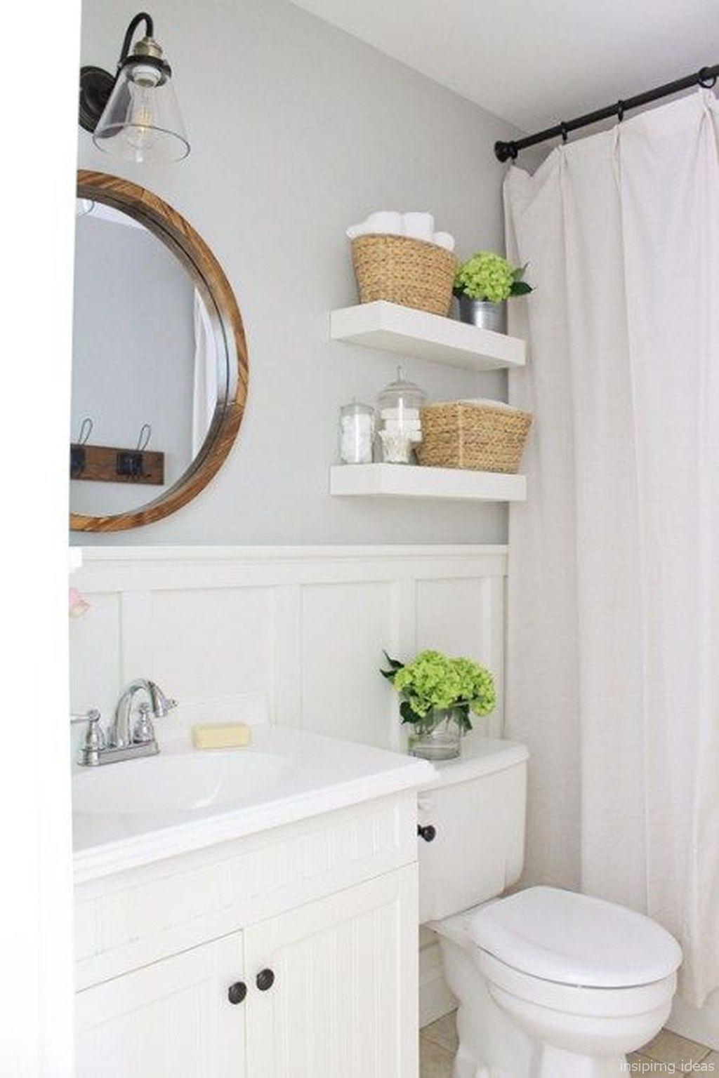 modern farmhouse bathroom for small spaces ideas 31