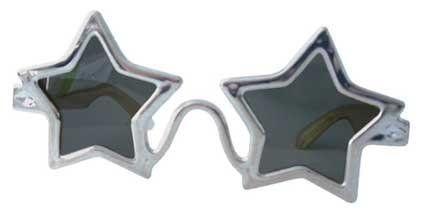 Silver Star Elton John Sunglasses Glasses Fancy Dress Accessory