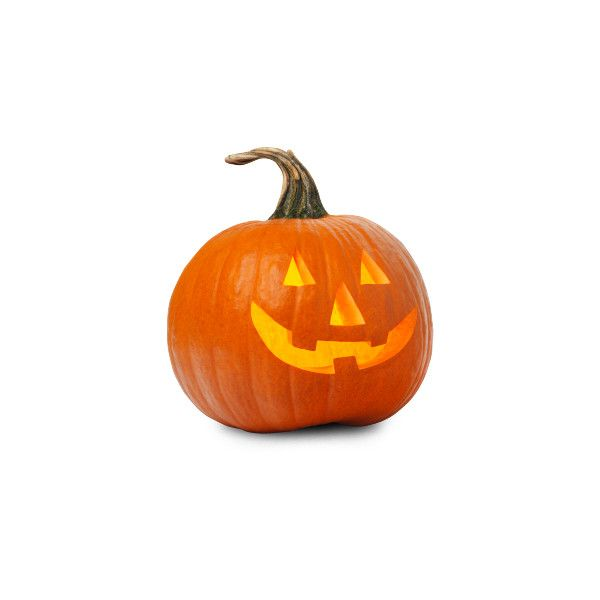Candle Lit Pumpkin ❤ liked on Polyvore featuring home, home decor - halloween lighted decorations