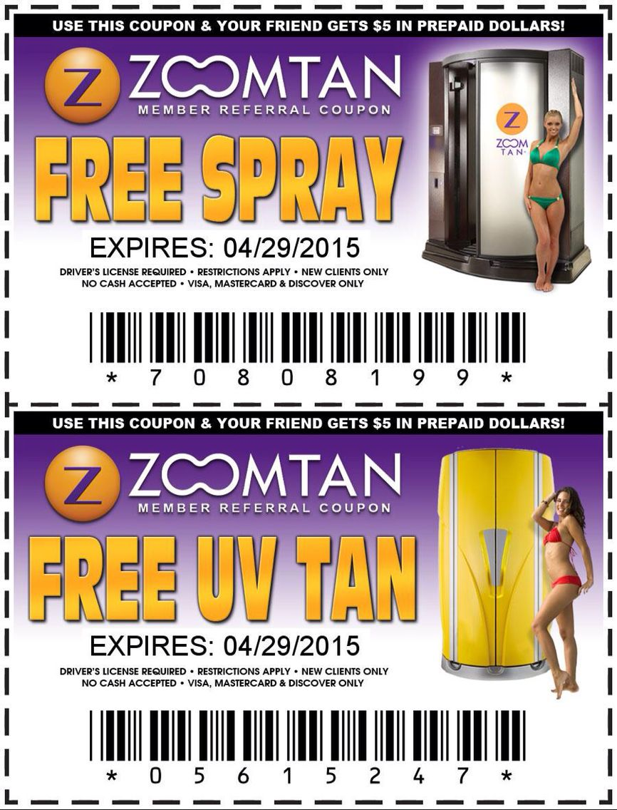 free Coupon for zoom tan ,zoomtan uv tanning spray tan