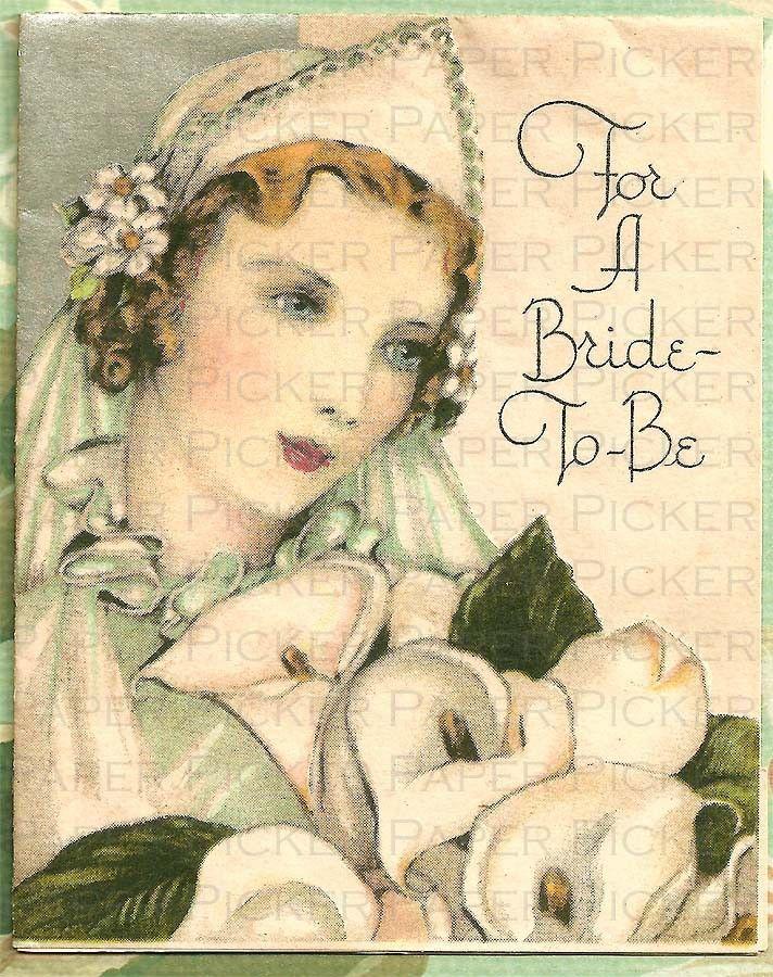 Vintage 1920s Wedding Greeting Card