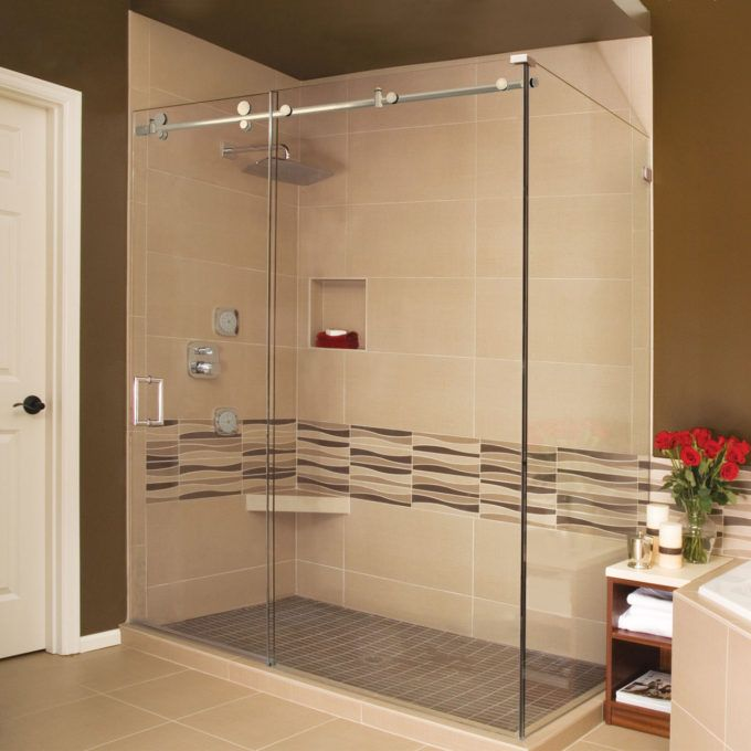 Holcam Barn Door Shower Side Wall Is Glass With Images