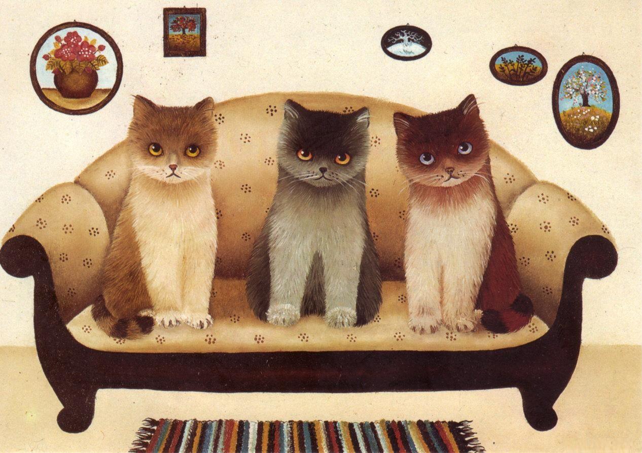 Хорошего, картинки для декупажа смешные кошки