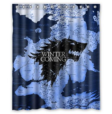 Shower Curtains Game Of Thrones Google Search Custom Shower Curtains Printed Shower Curtain Game Of Thrones Winter