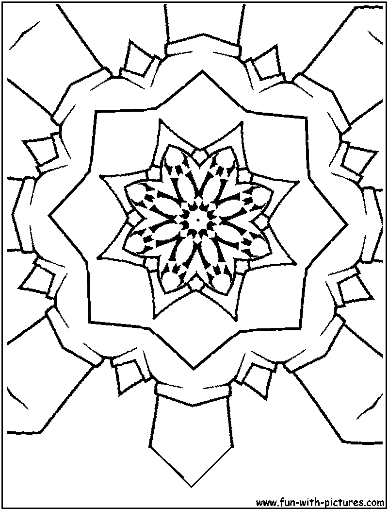 Kaleidoscope Coloring Pages Find Beautiful At TheColoringBarn