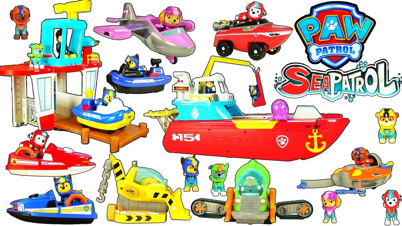 Paw Patrol Sea Patrol Toys Complete Sea Patrol Toy Collection Review For Kids Paw Patrol Paw Patrol Toys Paw