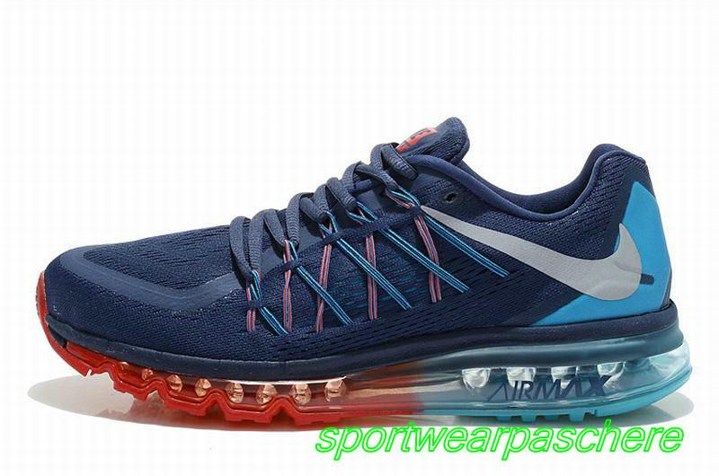 air max 2015 bleu rouge