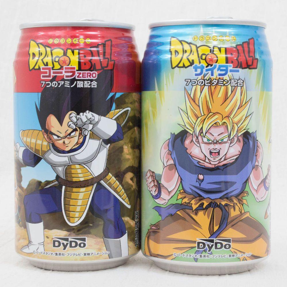 Dragon Ball Z Kai Aluminum Can Dydo Gokou Sider + Vegeta Cola JAPAN ANIME