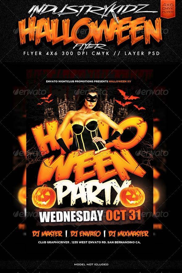 search 100 free halloween psd party flyer templates my template