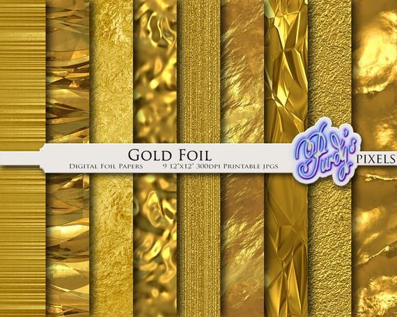 photo relating to Printable Foil Paper identify Electronic Gold Foil Paper - Steel Gold Printable