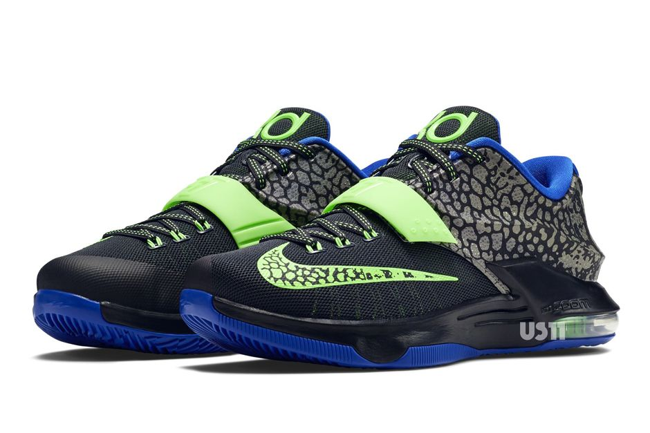 best service 9ffa3 2ead3 Nike KD 7 - Metallic Pewter - Flash Lime - Anthracite - Lyon Blue ...