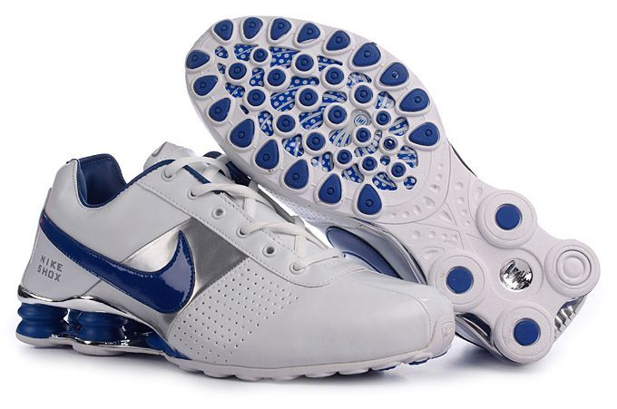 new york d381c 75a0d Nike Shox Deliver Trainers Men s White Blue Silver