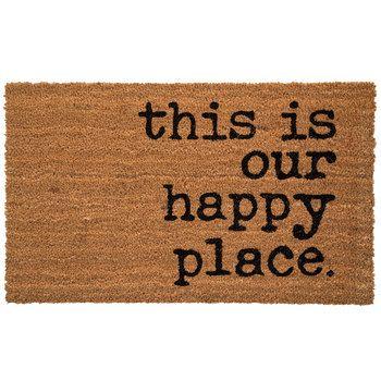 TAG Coir Door Mat Welcome Doormat Porch Patio Entryway This is My Happy Place