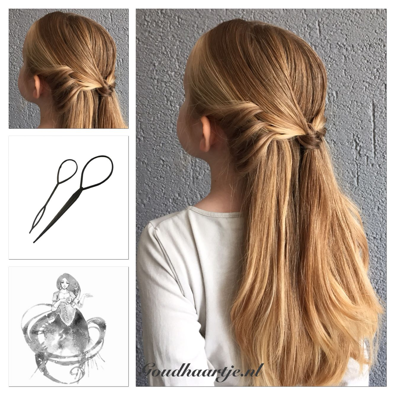 Angel Wings Hairstyle Made With The Topsy Tail From Goudhaartje Nl