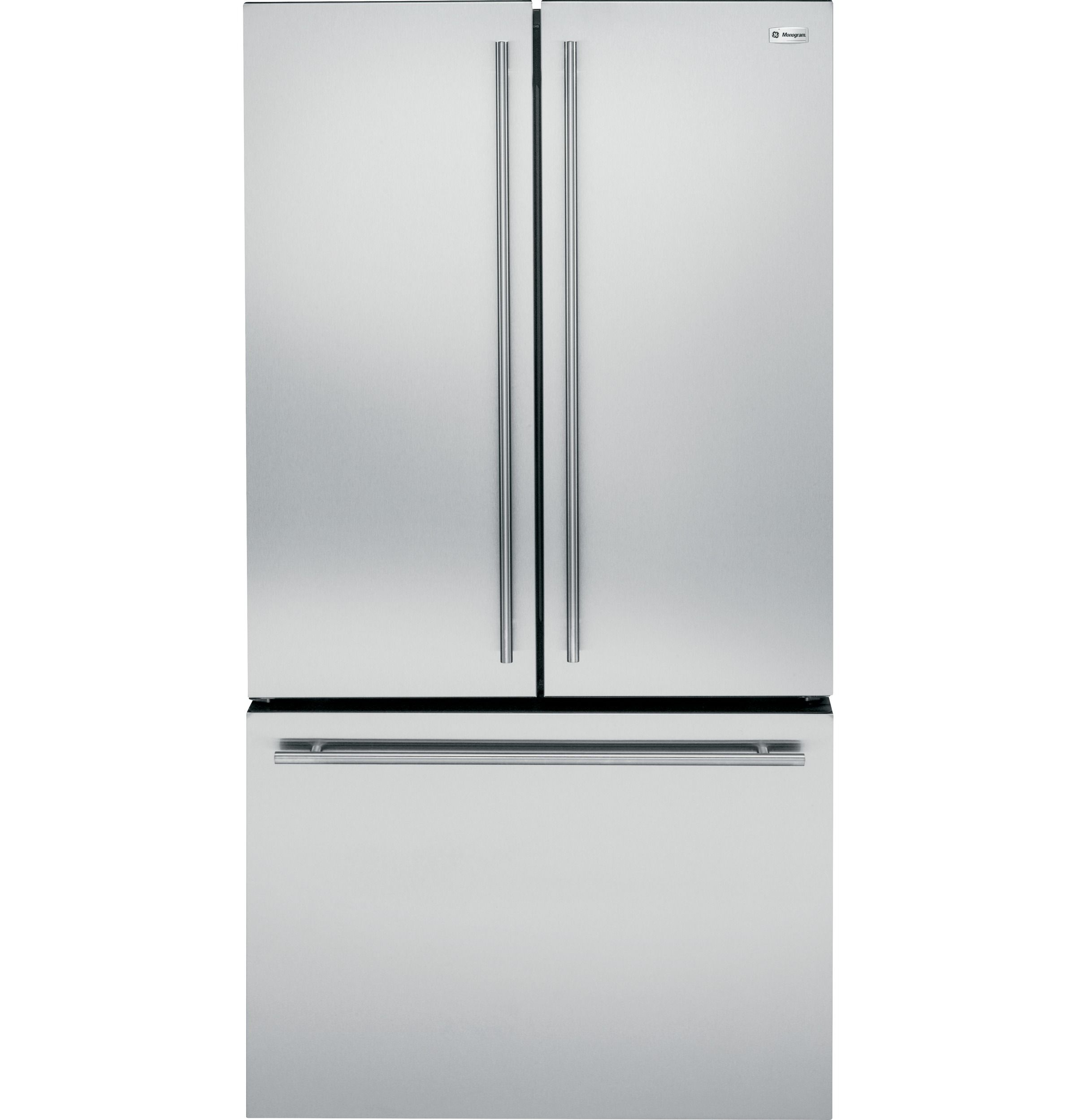zwe23eshss - ge monogram u00ae energy star u00ae 23 1 cu  ft  counter-depth french-door refrigerator