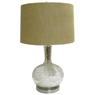 Mercury gold speckled glass lamp with burlap shade shop hobby hobby lobby arts crafts stores aloadofball Choice Image