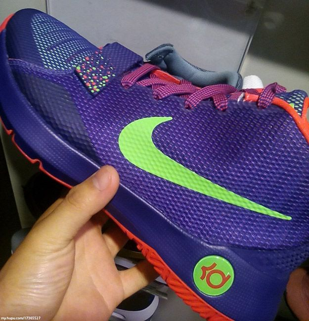 e7e18628588e Nike KD Trey 5 III Purple-Crimson-Neon