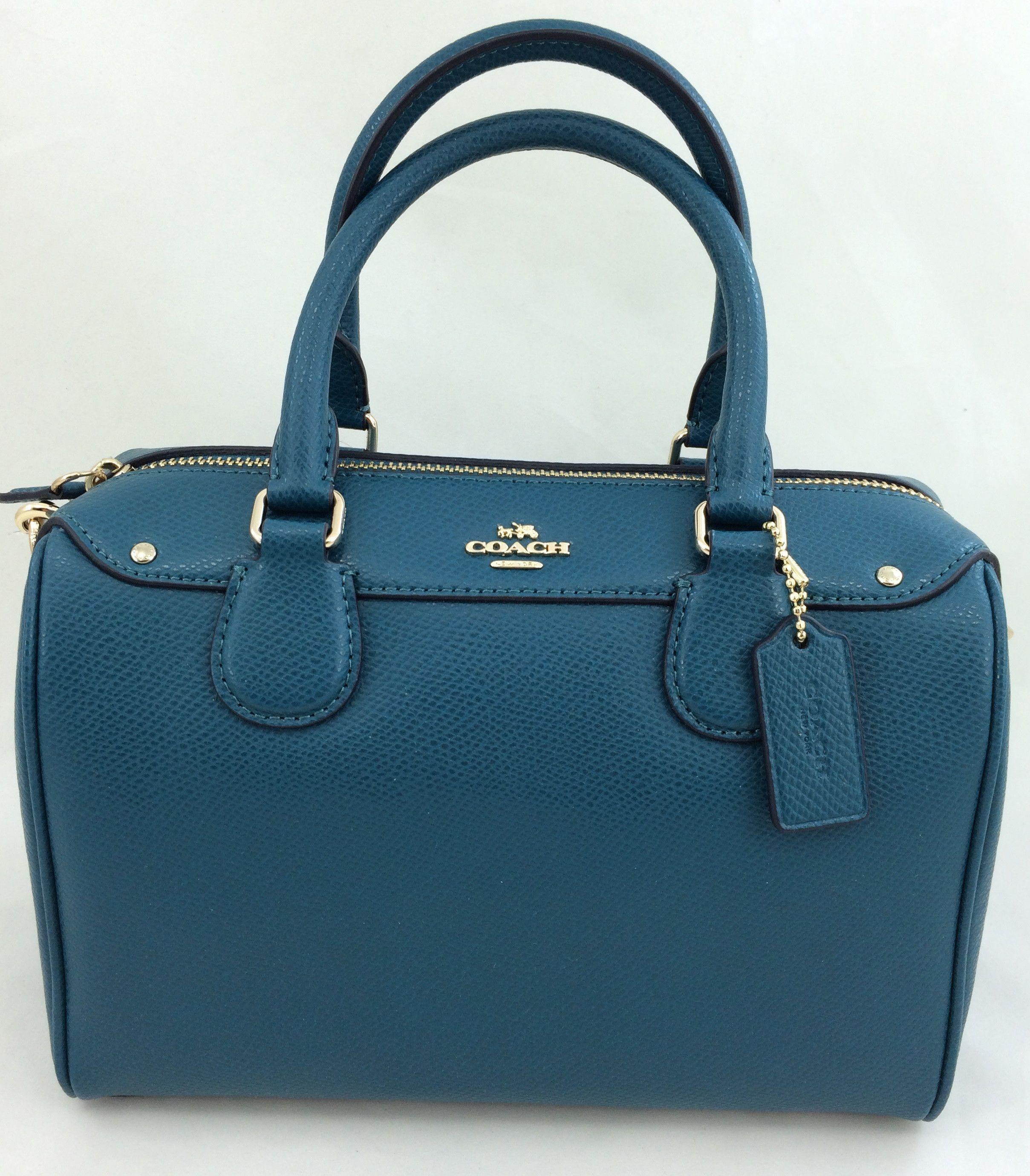 3b638d5fe5f New Authentic Coach F36624 Mini Bennett Satchel Shoulder Bag Crossgrain  leather in Atlantic Blue