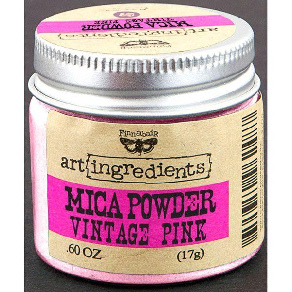 Finnabair Art Ingredients Mica Powder - Vintage Pink
