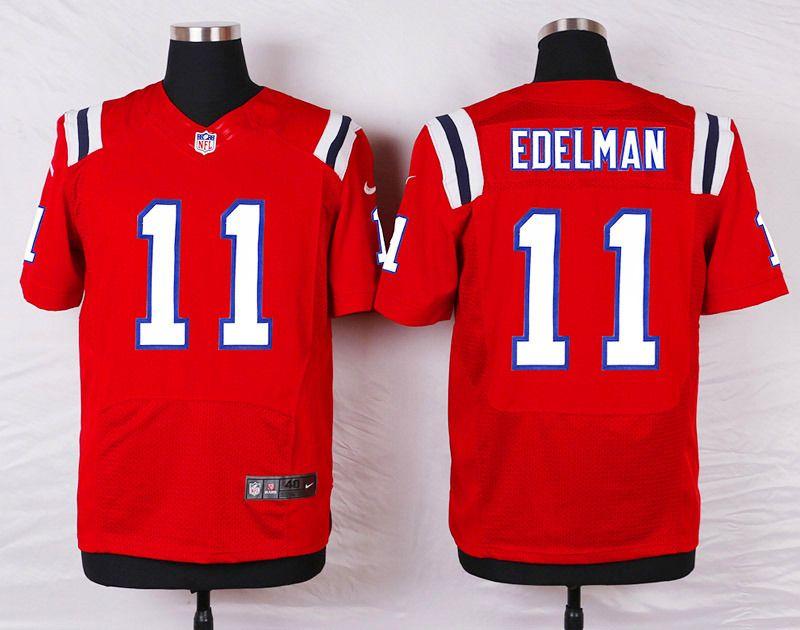 Men S Nike Nfl New England Patriots 11 Julian Edelman Red Elite Jersey Edelman Jersey Jersey Patriots New England Patriots